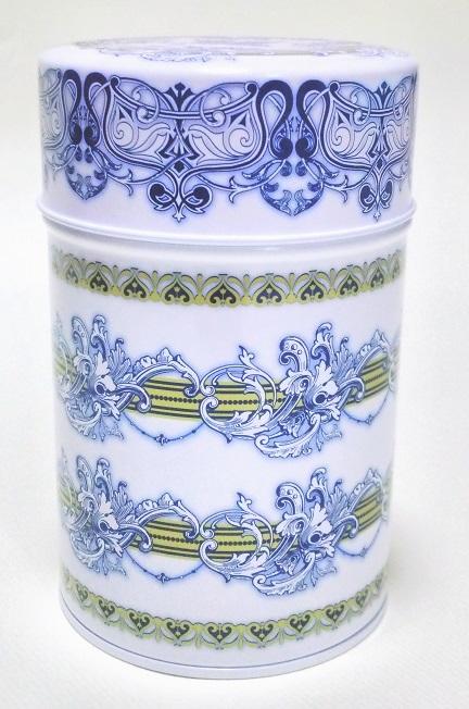 紅茶缶ブルー