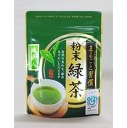 水にもお湯にも溶ける抹茶入り粉末緑茶 いつでも、どこでも、簡単においしいお茶を 70gチャック付袋入り パパッと缶への詰替えに